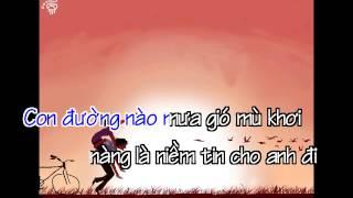 [Karaoke] Con Đường Mưa Gió - Nguyễn Phi Hùng