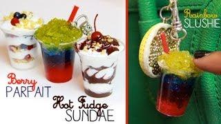 Sundae, Slushy, & Parfait Keychains - Polymer Clay, Resin & Silicone Tutorial Thumbnail