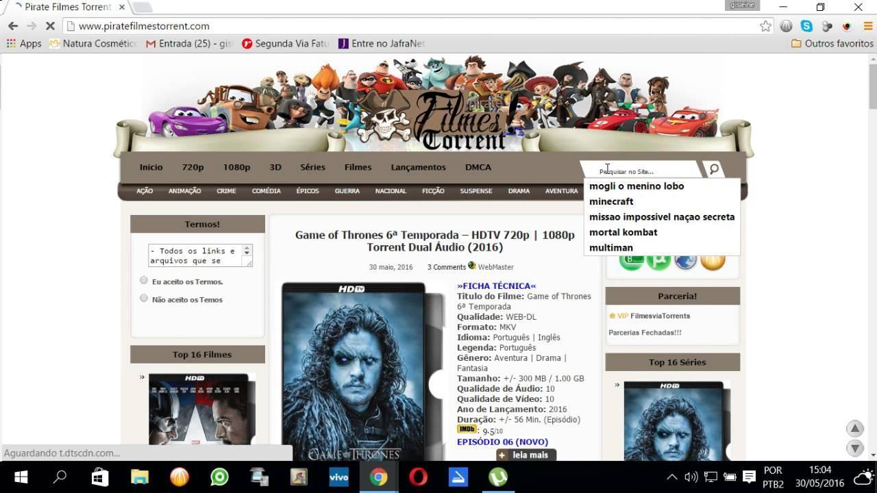 sites para baixar filmes pelo utorrent em portugues