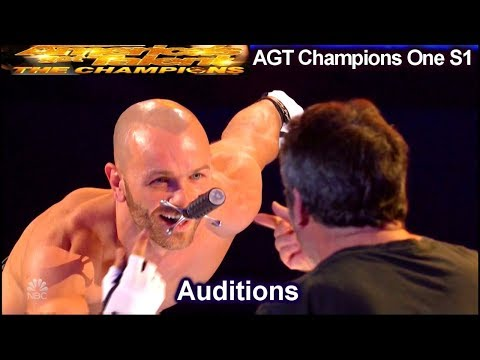 Alexandr Magala Sword Swallower FALLS w SWORD IN MOUTH | America's Got Talent The Champions One AGT