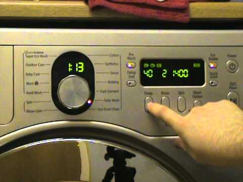 sud on samsung washing machine