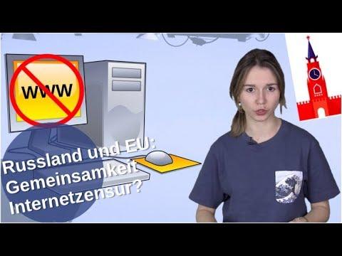 Russland und EU: Gemeinsamkeit Internet-Zensur?