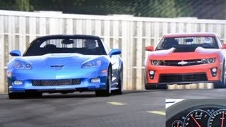 top gear corvette zr1 vs camaro zl1 test track