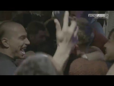 Download Leicester City players celebrate after winning the Premier League title
