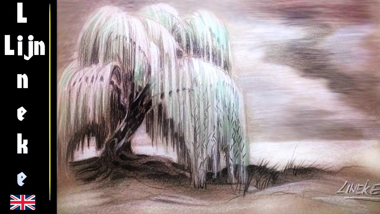 Uncategorized How To Draw A Weeping Willow drawing a weeping willow tree eywa avatar easy tutorial youtube