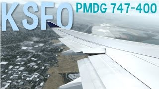 FSX SAN FRANCISCO | PMDG 747 | WINGVIEW | AWESOME GRAPHICS (HD)
