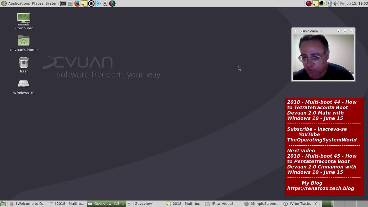 2018 - Multi-booting 44 - How to Tetratetraconta Boot Devuan 2 0 Mate with  Windows 10 - June 15
