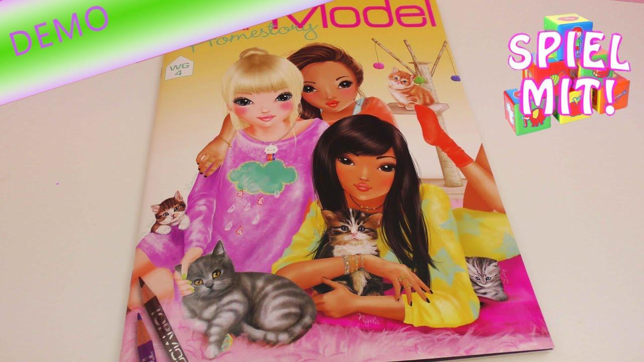 Topmodel Homestory WG 4 Bersicht Malbuch Stickerbuch