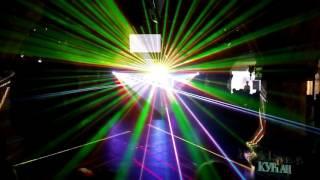 Фрагменты лучевого лазерного шоу на свадебном этапе премии