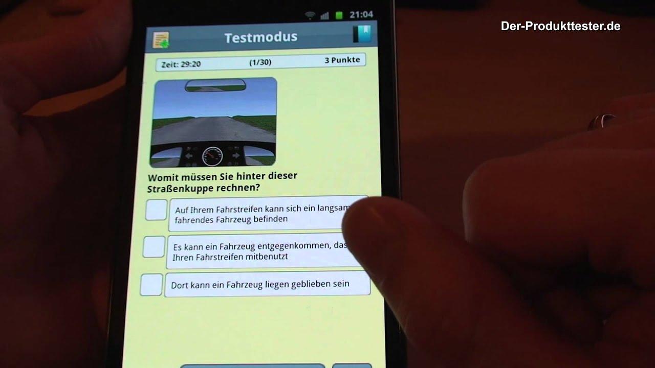 Führerschein-App für Android - YouTube
