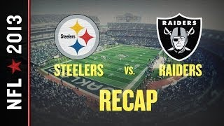 Steelers vs. Raiders 2013, NFL Week 8: Terrelle Pryor runs Oakland to victory