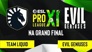 CS:GO - Team Liquid vs. Evil Geniuses [Dust2] Map 1 - ESL Pro League Season 11 - NA Grand Final