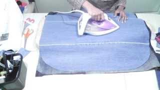 Bonding fabrics together / Recycle Jeans