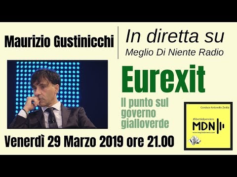 🔴 Eurexit | Maurizio Gustinicchi | #libertàdipensierolive