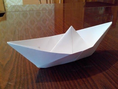 Как можно сделать бумажный кораблик