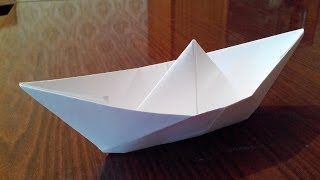 Как сделать кораблик оригами, origami boat