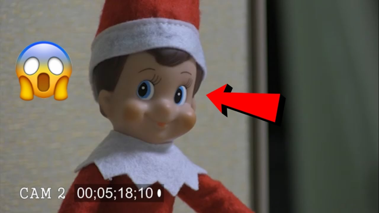 Elf On The Shelf Caught Moving By Security Cameras