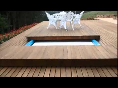 Deck retr til e autom tico para piscinas youtube for Modelos de piscinas con jacuzzi