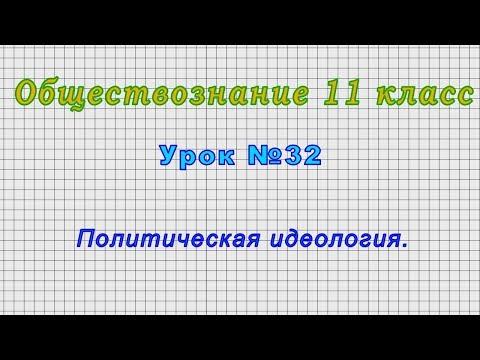 Обществознание 11 класс (Урок№32 - Политическая идеология.)