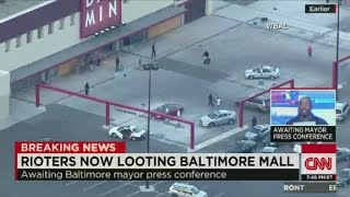 Police: Rioters looting at Baltimore mall