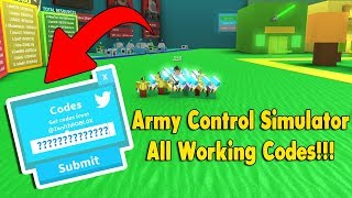 *New Code* All Working Gold Codes Army Control Simulator Roblox