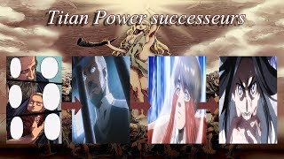 The 9 titan powers and there known successors Attack on titan
