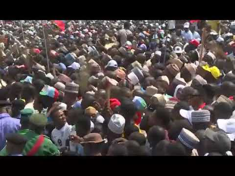 PRESIDENT MUHAMMADU BUHARI ATTENDS CAMPAIGN RALLY IN NIGER STATE, THE PEOPLE PLEDGES PMB REELECTION.