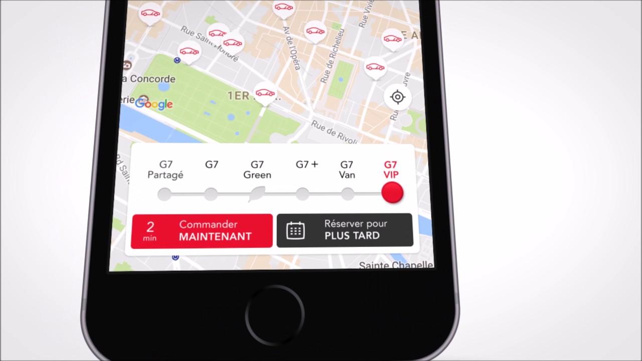 d couvrez la nouvelle appli g7 taxi toujours plus de services youtube. Black Bedroom Furniture Sets. Home Design Ideas