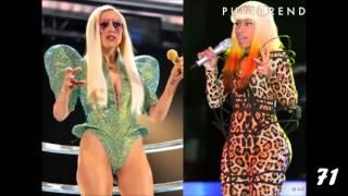congratulations Nicki Minaj you copied Lady Gaga 100 times!!!