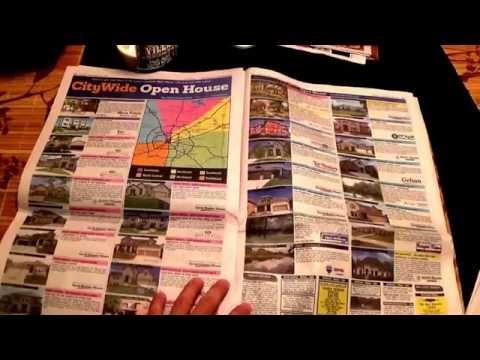 ASMR - Page turning - #53 - Newspaper Plus Bonus Coupon Clipping - no talking