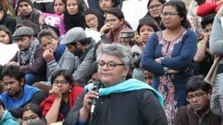 Ayesha Kidwai Speaks on Behalf of JNUTA
