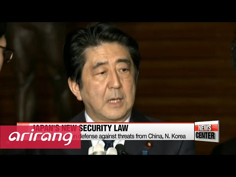 Japan's controversial self-defense law takes effect