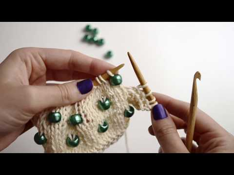 How to put beads on your knitwear | WE ARE KNITTERS