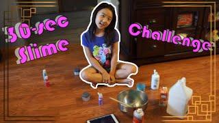 30 SECOND Slime Challenge! Making Slime Super Fast! Is this possible? HelloLittleReader