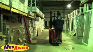 видео Двери межкомнатные со склада в Москве. Купить остекленные межкомнатные двери Ника темный анегри готовые!