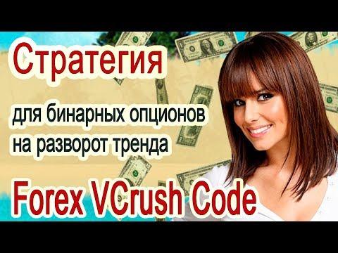 Стратегия для бинарных опционов на разворот тренда [Forex VCrush Code]