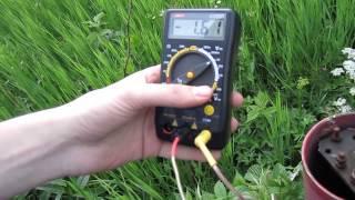 Измерение потенциала ''труба-земля'', CP potential measurement