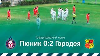 Товарищеский матч Пюник 0 2 Городея 15 02 2020