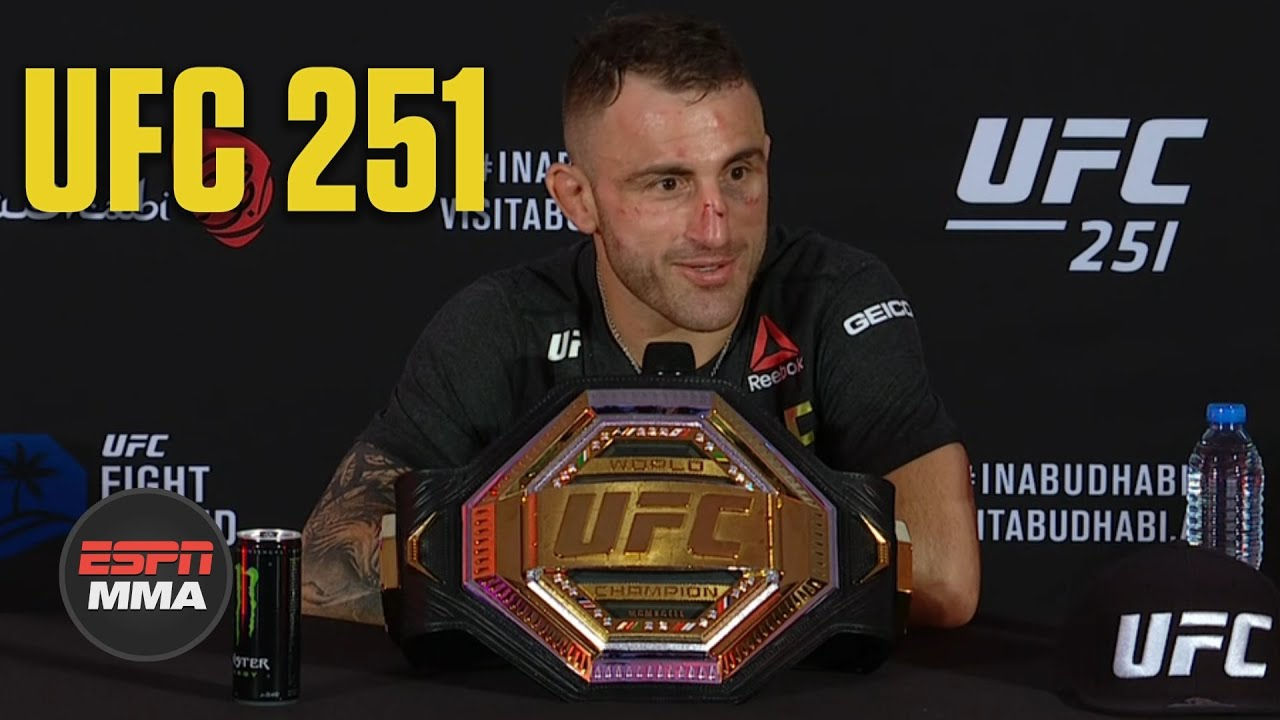 Alexander Volkanovski talks win over Max Holloway at UFC 251   ESPN MMA