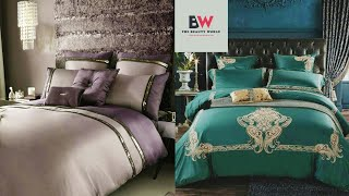 Luxury Royal Bedding Sets With Embroidery King Queen Size