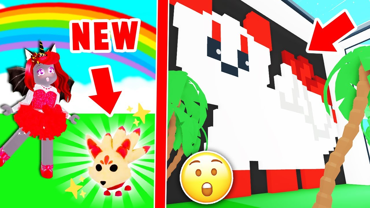 Checking Out The BRAND NEW Kitsune PET Build In Adopt Me! (Roblox)