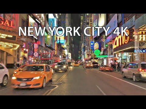 New York City 4K - Neon Nightlife Drive