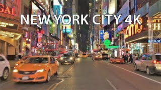 New York City 4K - Neon Nightlife Drive