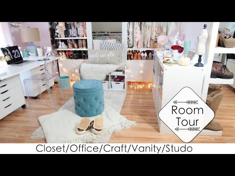 5 Into 1 Room Tour + DIYs Closet/Office/Vanity/Craft/Studio (LisaPullano)