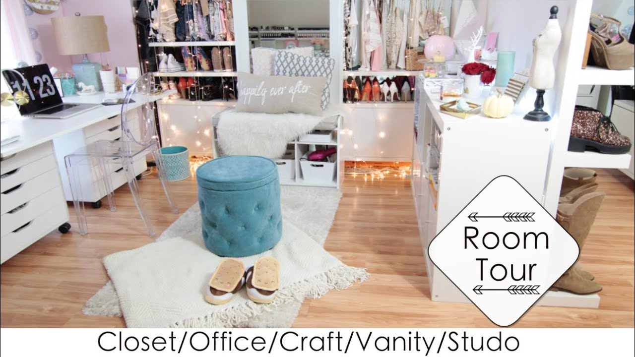 Into 1 room tour diys closet office vanity craft studio