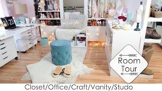 5 Into 1 Room Tour   Diys Closet/office/beauty Room/craft/studio (lisapullano)