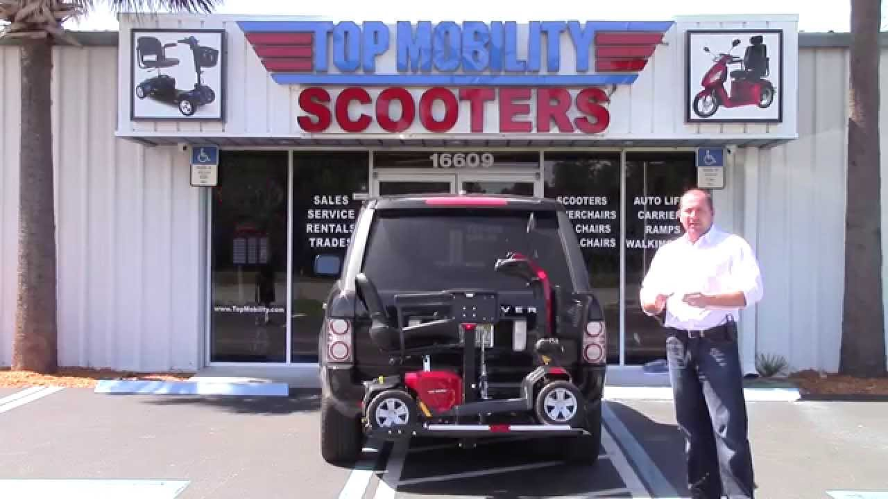 Freedom Fully Automatic Scooter Lift Hitch Mount Carrier only at ...
