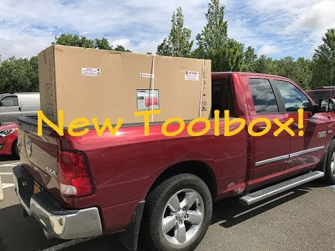 """unloading 72"""" harbor freight us general toolbox by yourself -"""