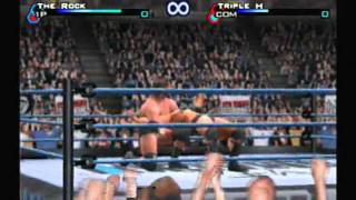 WWF Smackdown Just Bring It - The Rock VS Triple H