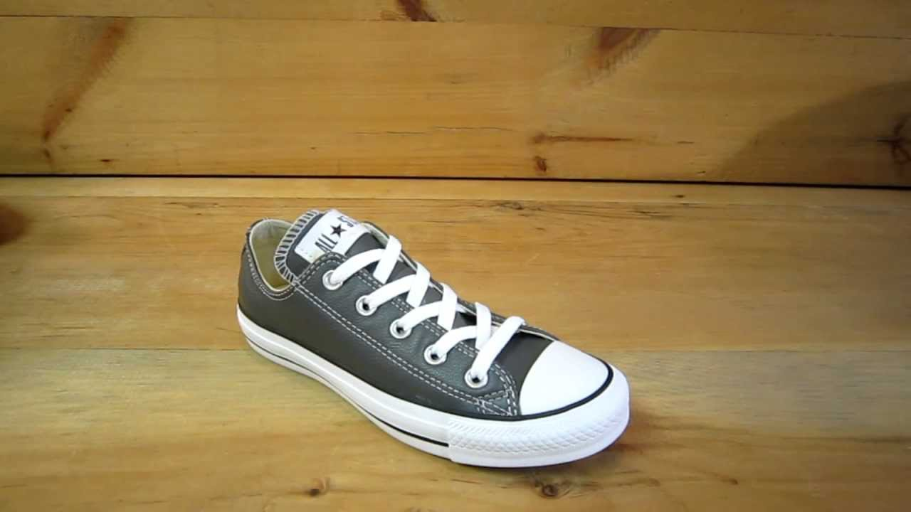 b91421acbcf8 Converse All Stars Chuck Taylor Ox Leather Charcoal - YouTube